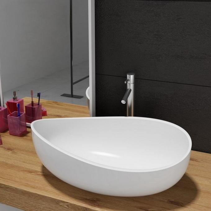 Artificial Stone Coutertop Sink Hand Washing Basin Boat Model Design Eco - Friendly