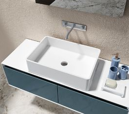 Solid Surface Counter Top Basin Smooth Non Porous Seamless Joint supplier