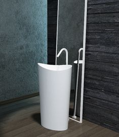Unique Shape Freestanding Bathroom Basin Stand Alone Vanity Unit