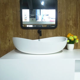Artificial Stone Coutertop Sink Hand Washing Basin Boat Model Design Eco - Friendly supplier