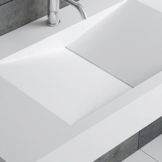 Simple Artificial Stone Wall Hung Basin Organic Shape 900*480*150mm supplier