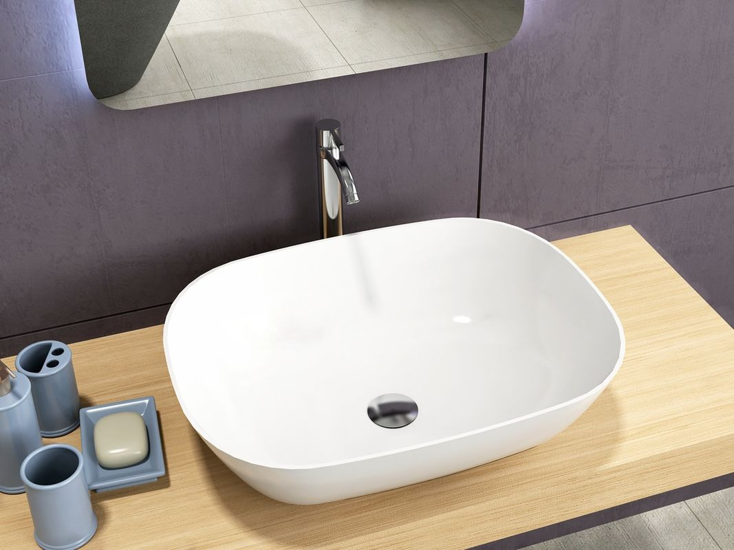 Durable Counter Top Basin Tone Vessel Bathroom Sinks  Eco Friendly