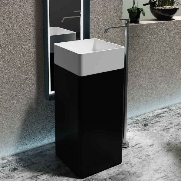 High Gloss Freestanding Vanity Basin Non Porous Home Hotel Use