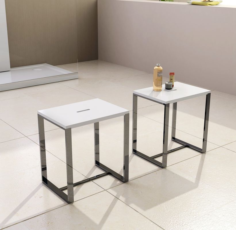 Professional  Resin 	Stone Shower Stool 400*300*430 White Grey Black Optional
