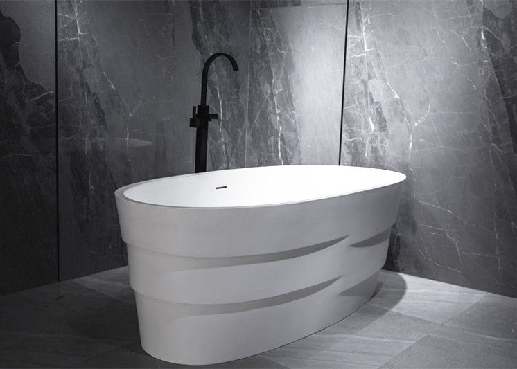 Small Size Freestanding Soaking Bathtub Center Drain Easy To Clean