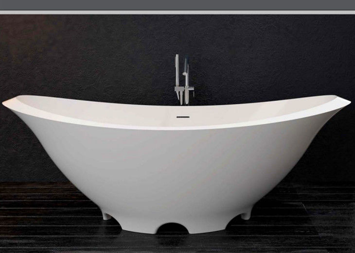 Artificial Stone  Freestanding Soaking Bathtub  Heat Retention