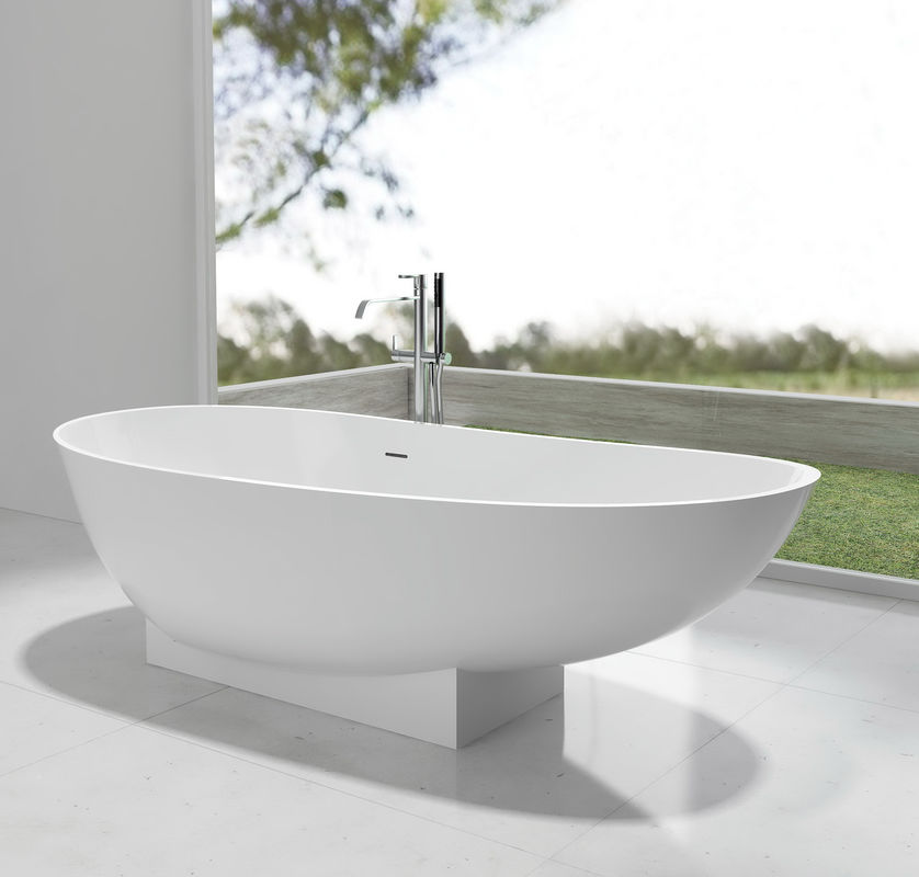 White Free Standing Soaker Tubs 1-2 People Capacity 1800*820*520mm
