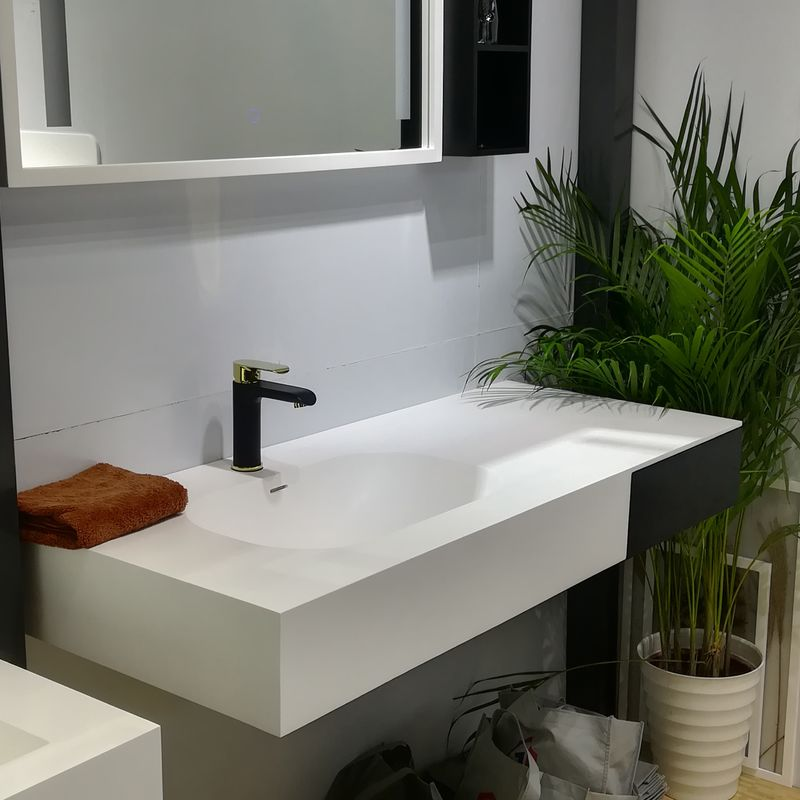 Modern Design Bathroom Sink Cabinets Soft Close Long Life Span