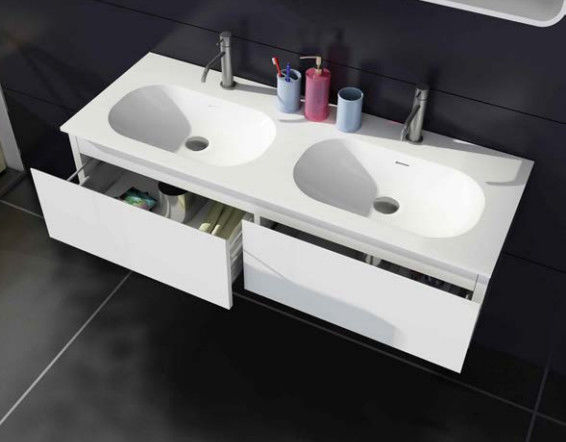 Residential Home Bathroom Vanities Cabinets Corner Bathroom Sink