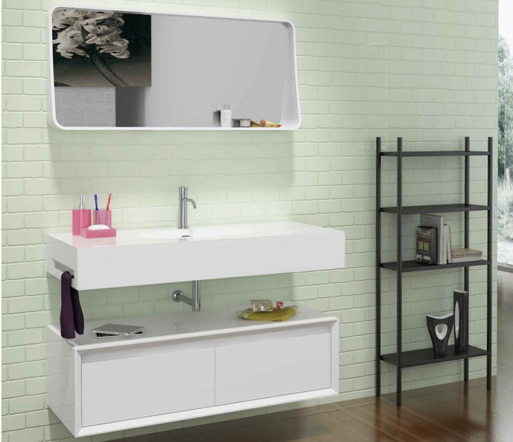 Wall Hung  Bathroom Furniture Cabinet White Corner Bathroom Sink