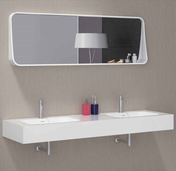 Solid Surface 	Wall Hung Basin Smooth Non Porous Seamless Joint