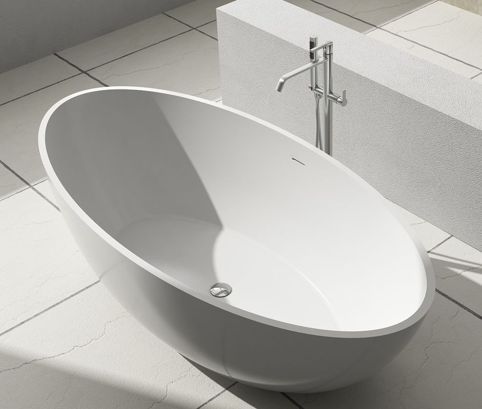 Stable Small Freestanding Soaking Tub Stand Alone Bathtubs 134KGS