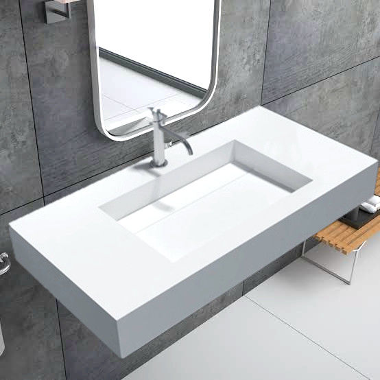 Shower Room Wall Hung Basin / Sanitary Ware Small Wall Mounted Sink supplier